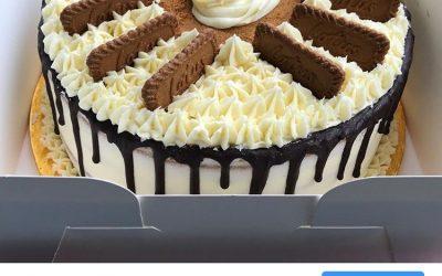 Biscoff Birthday Cake for @GraceFitUk